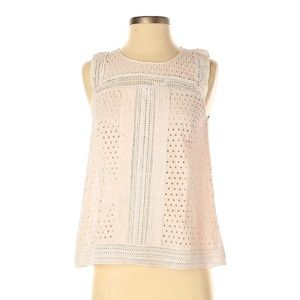 Club Monaco Effie Blush Eyelet Top XS